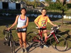 Biking on the canal trail