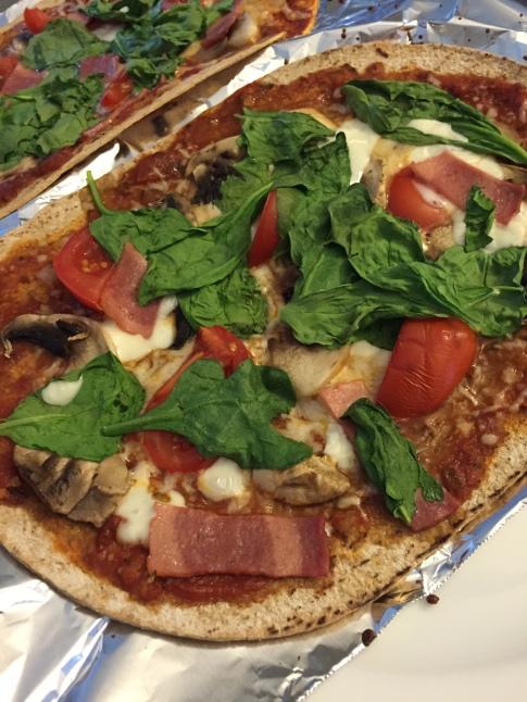 healthY homemade pizza