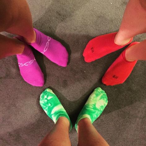 Happy feet from a happy run